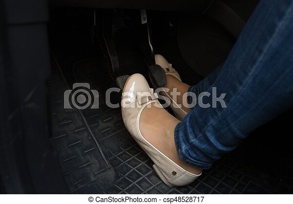 feet on pedals