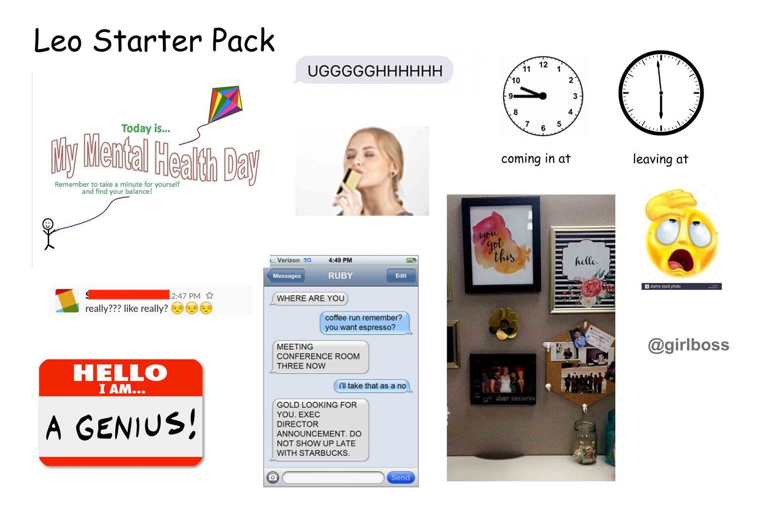 dating starter pack a leo