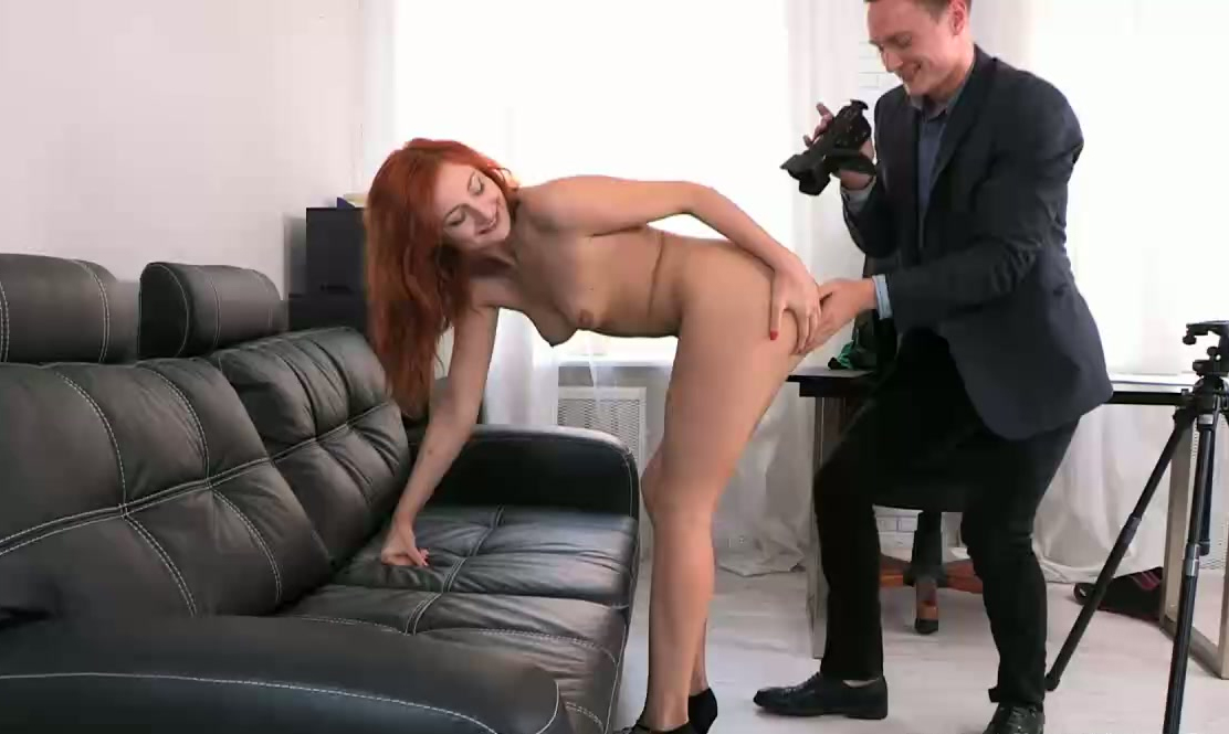 redhead mature couch on
