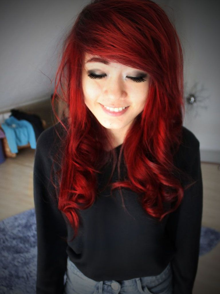 emo girl red