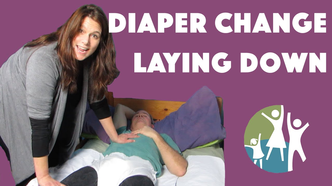 adult girls getting diapers changed