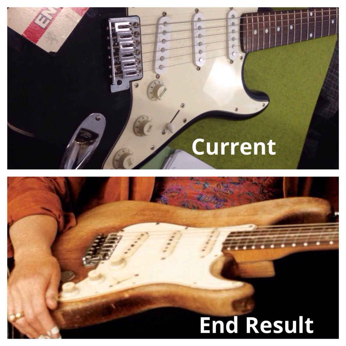 from guitar strip a paint how to