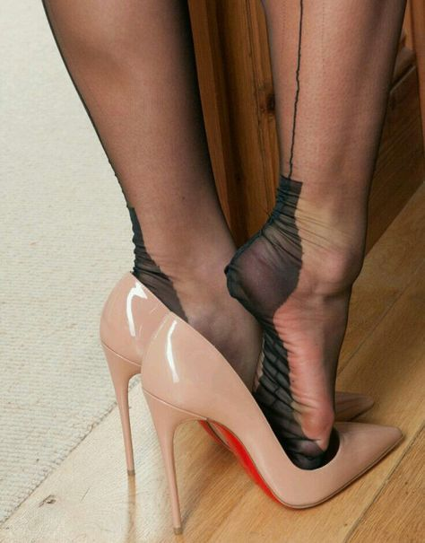 and nylons sandals nude