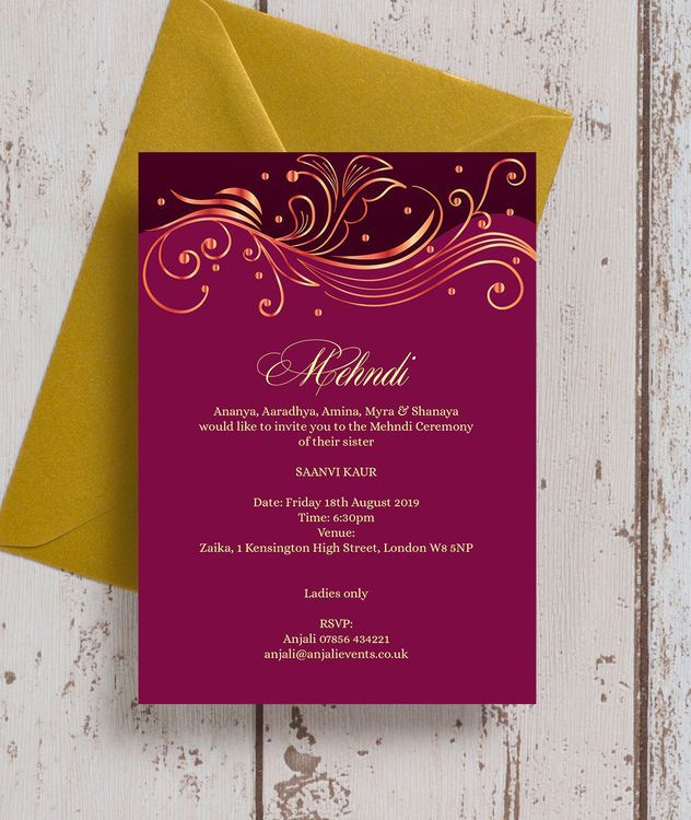 wedding asian indian cards