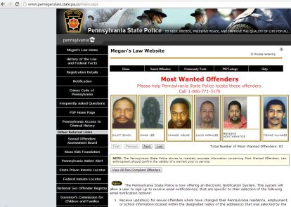 sex offender registry look up