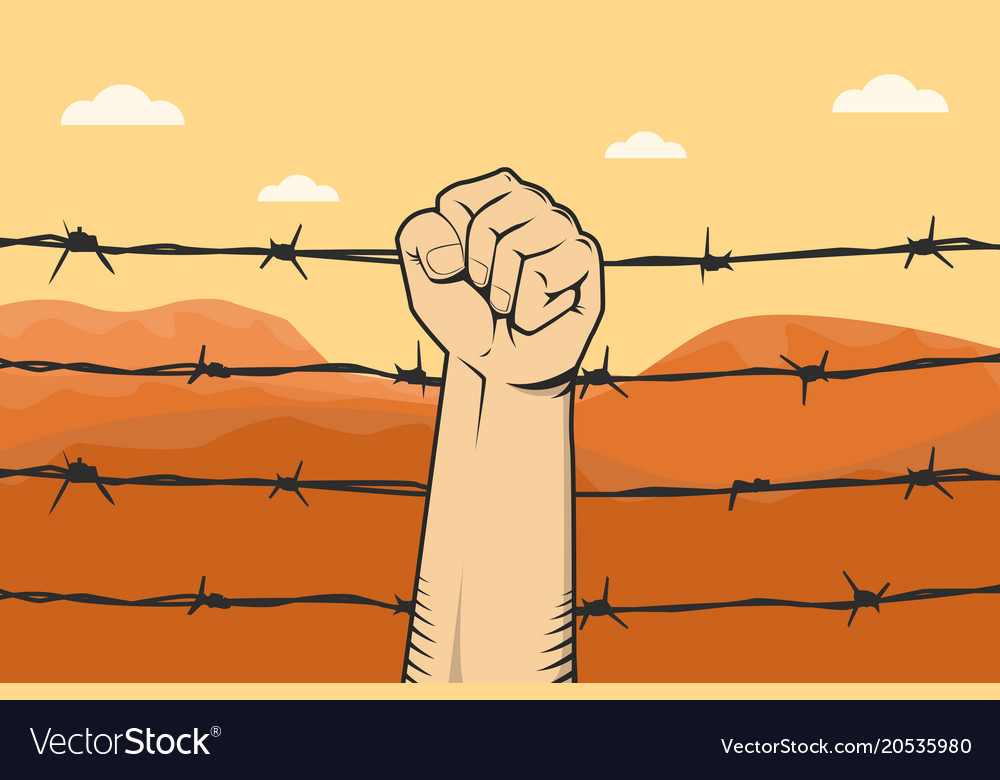 barbed wire fist in