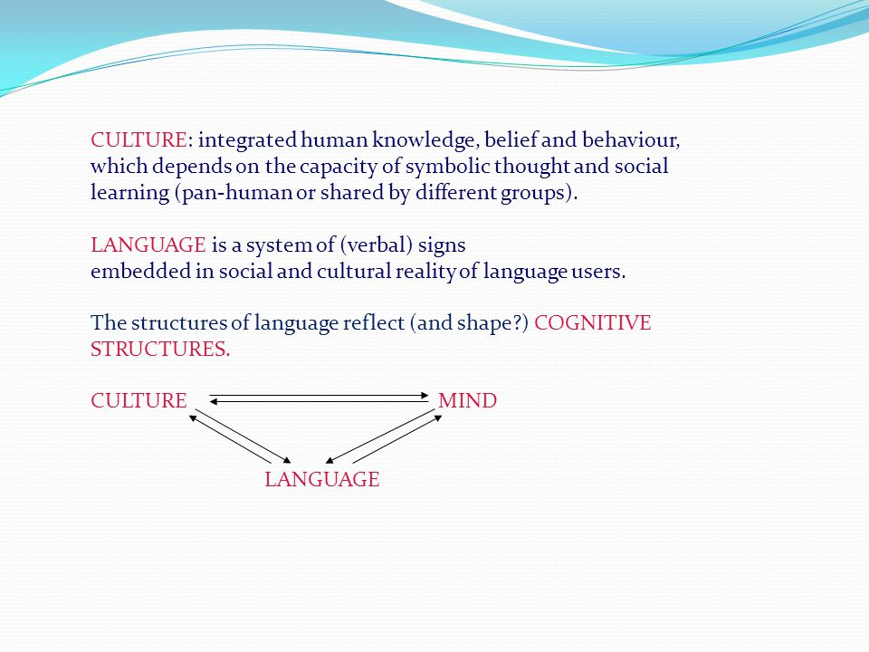 structures reality language